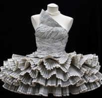 Оригинальные костюмы из бумаги. Как сделать своими руками? Как сделать платье из бумаги