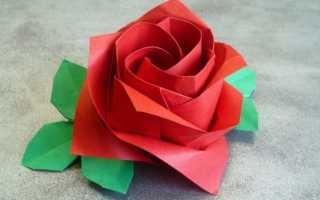 Как сделать оригами розу
