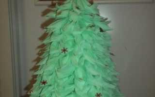Как сделать елку из салфеток своими руками. Новогодняя елка из бумажных ладошек: инструкция, фото