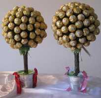 Декоративные деревья своими руками с конфетами. Как сделать красивый топиарий из конфет