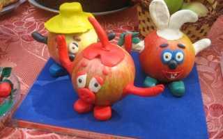 Как сделать из фруктов поделку в школу. Какие поделки можно сделать из овощей и фруктов