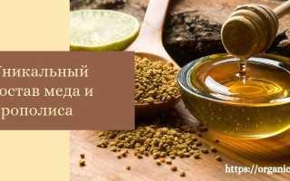 Мед с прополисом полезные