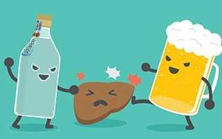 Пиво или водка что вреднее для печени