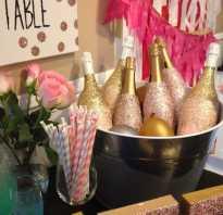 Чем покрасить шампанское. Свадебная бутылка шампанского своими руками. Для изготовления понадобится