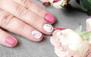 Как сделать мрамор на ногтях гель лаком