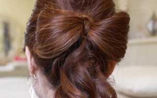 Как сделать из волос бантик на голове. Как сделать бант из волос своими руками с видео
