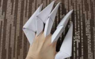 Как сделать ногти из бумаги для девочек