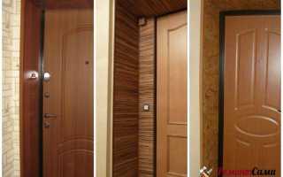 Как сделать отделку входной двери