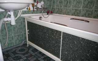 Как сделать нишу под ванной