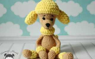 Маленькая собачка — амигуруми крючком. Схемы вязания собак амигуруми (пудель, далматинец, папильон)