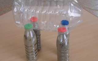 Как сделать осла из пластиковых бутылок