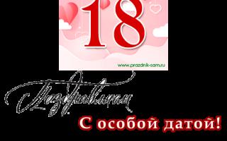 Душевное поздравление с 18 летием девушке. Поздравления девушке с днем рождения (18 лет)