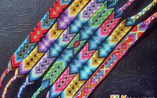 Как плести фенечки из 4 ниток. Некоторые общие правила. Схемы плетения фенечек из ниток