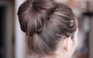Как сделать красивую шишку. Вариации на тему — шишка из волос. Шишка из конского хвоста