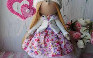 Стильные куклы своими руками. Текстильная интерьерная кукла своими руками. Мастер-класс