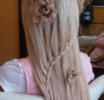 Косичка с помощью змейки. Прическа змейка. Как заплести косу змейкой на длинных волосах