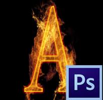 Как сделать огненные буквы