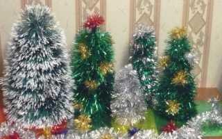 Как сделать елку из мишуры своими руками: используем различные техники. Новогодняя елка из мишуры