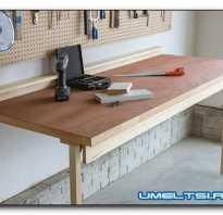 Как сделать откидной стол в гараже
