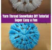 Снежинки из помпонов своими руками. Как сделать снежинку из ниток? Снежинки из клея ПВА