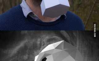Как сделать маску енота из бумаги
