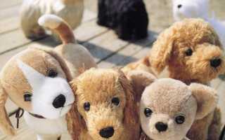 Сшить собачку из меха выкройка. Забавная игрушка собачка из меха. Самая легкая модель
