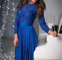 Красивые синие платья в пол. Синее платье — модный, стильный наряд! С чем носить тёмно-синее платье