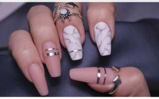 Как сделать ногти балерина