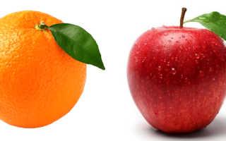 Что полезнее апельсин или яблоко